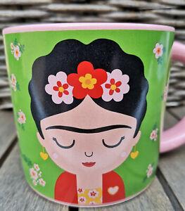 Tasse Mug Tasse Frida Kahlo Porcelaine 330 Ml Rose Fleur Fille Boho-afficher Le Titre D'origine