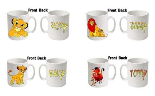 """Personalised  Printed /""""LION KING/""""  Boxed White Mugs Any name message age etc"""