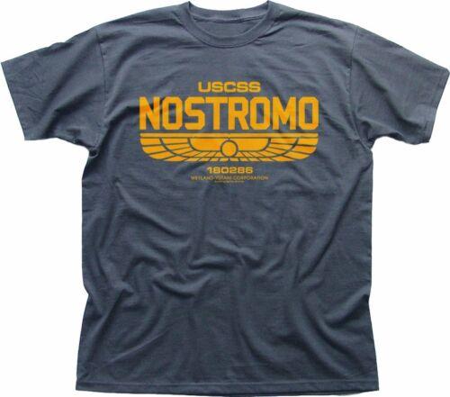 ALIENS USCSS NOSTROMO Weyland Yutani charcoal grey printed t-shirt FN5163