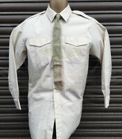 ARMY SURPLUS ALL RANKS FAD G1 FAWN LONG SLEEVE DRESS SHIRT-GOODWOOD,W&P REVIVAL