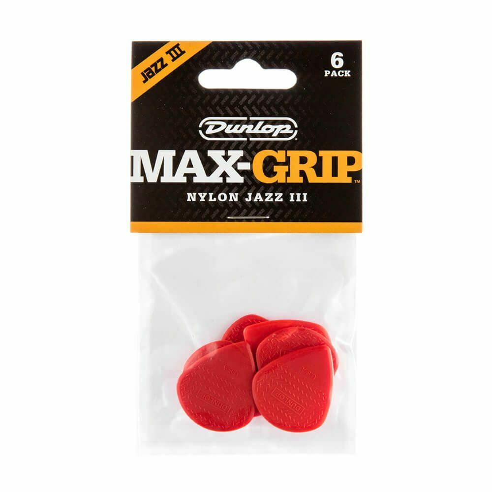 Jim Dunlop Nylon Jazz III Red guitar picks pack of 24  **REDUCED TO CLEAR**