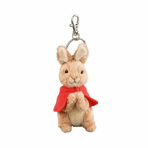 Beatrix Potter Flopsy Rabbit Plush Keyring Keychain - Bag Clip Soft Pram Toy