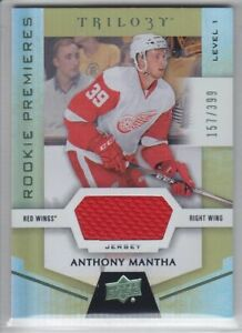 2016-17-UD-TRILOGY-ANTHONY-MANTHA-RC-JERSEY-157-399-ROOKIE-74-Level-1-Red-Wings
