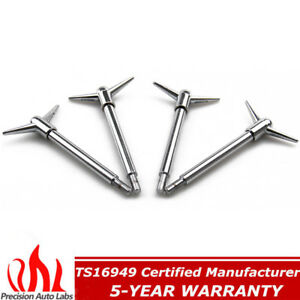 """4Pcs Steel /& Chrome 1//4/""""-20 Valve Cover Wing Y Top Bolts 5//8/"""" long thread US"""