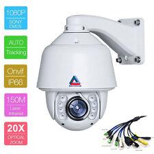 ESUNSTAR Auto Tracking 20X Zoom HD 1080P 2MP PTZ IP Speed Dome Camera SONY CMOS