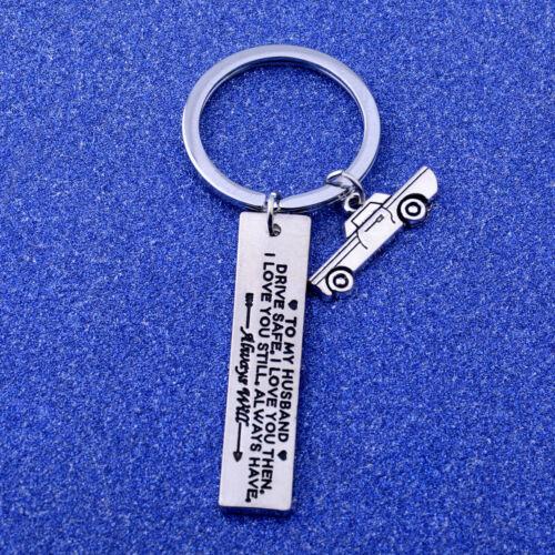 Love Keychain Gift For Boys Husband Couple Family Dad Mom Pendants Charm Keyring