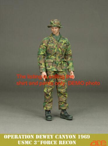 1:6 1//6 Scale ace 13020 Vietnam War Action figure ERDL Combat Shirt /& Pants
