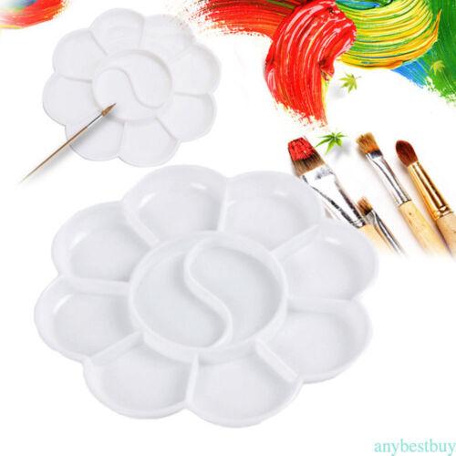 10pcs Plastic 8 cells Watercolor Oil Paint Paint Tray Mixing Palette NEW