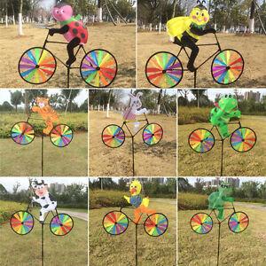 Image Is Loading Cute 3D Animal On Bike Windmill Wind Spinner