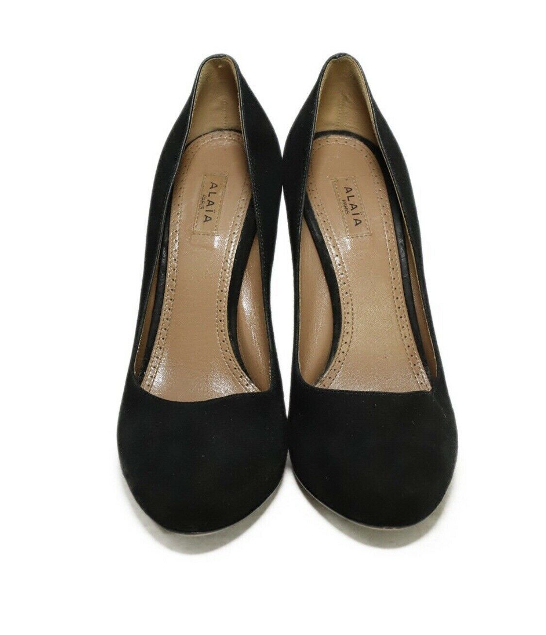 Azzedine Alaia BlackSuede Leather Heels Pumps Sz… - image 5