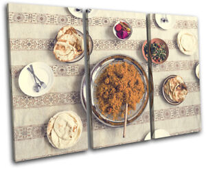 Arabic-Ramadan-Middle-East-Food-Kitchen-TREBLE-CANVAS-WALL-ART-Picture-Print