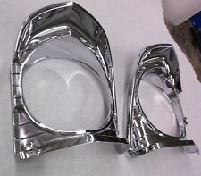 1967 CHEVY NOVA HEADLIGHT BEZELS 3892281 3892282 EXCELLENT AND READY FOR PAINT