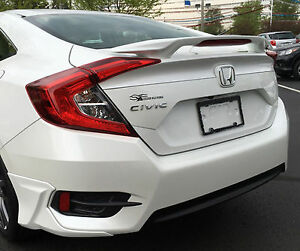 Image Is Loading Painted Spoiler For A Honda Civic 4 Door