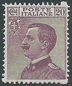 1926-REGNO-EFFIGIE-20-CENT-MNH-E50