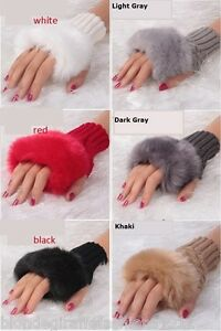 Fingerless Acrylic Soft Sweater Knit Gloves//Arm Warmers OS *4 Colors* Per Pair