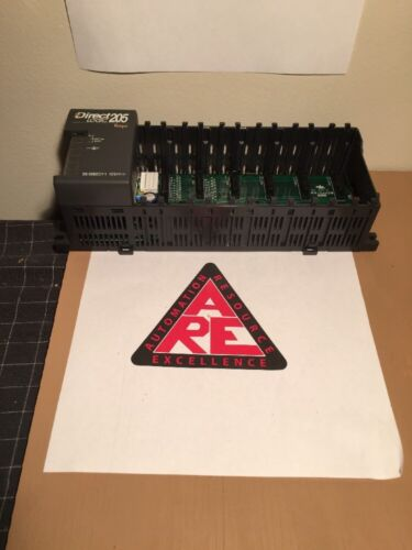 "Automation Direct Direct Logic 205 Koyo plc D2-06BDC1-1 rack chasis /""b5/"""
