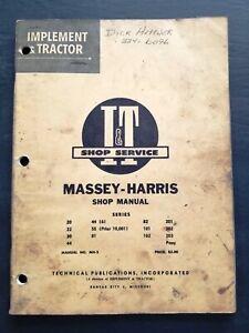 I/&T Manual Massey Harris 20 22 30 44 55 81 82 101 102 201 202 203 Pony Tractor