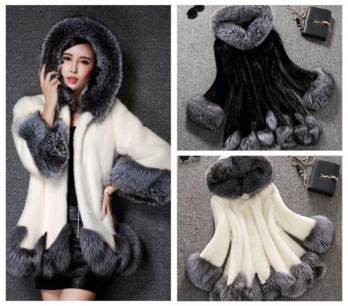 Nouveau Parka pardessus manteau en fausse capuche Femmes à chaud coréennes hiver veste Outwear fourrure gqxwYOx