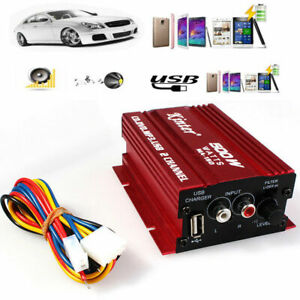 12V-500W-Hifi-Auto-Stereo-Audio-Verstaerker-Endstufe-2Kanal-Amplifier-Kabel-9-14V