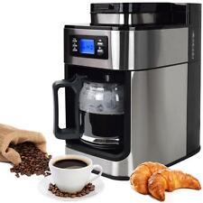 Syntrox  Edelstahl Kaffeemaschine Kaffeeautomat mit Mahlwerk Mühle Timer