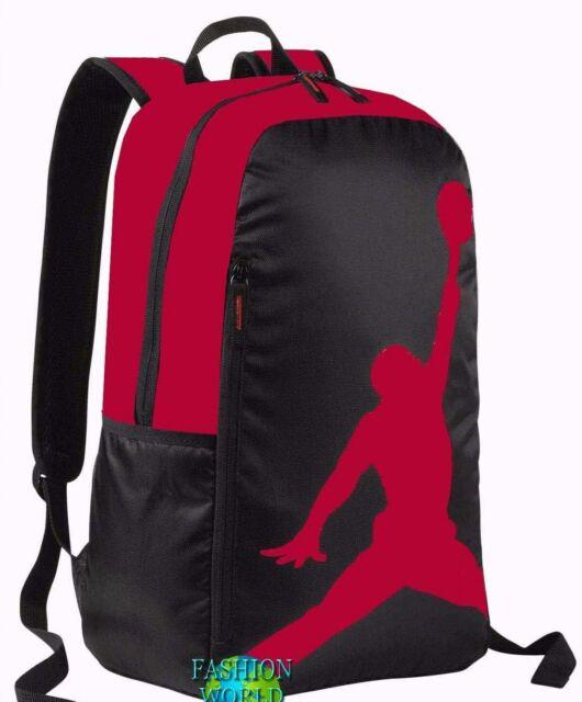 NIKE JORDAN Jumpman Backpack 9A1911 KR5 BLACK RED Logo Laptop Book Bag NEW 3eae60a4ef9e4