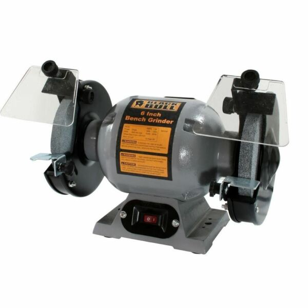 Black Bull 6 Quot Bench Grinder Corded Electric Power Tool 1