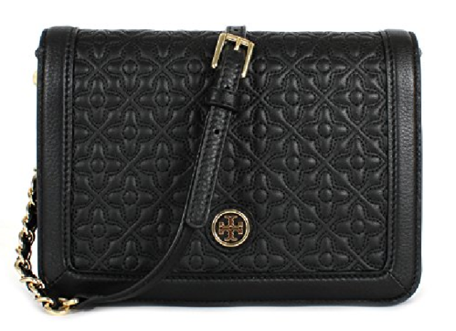 de86998d9e1 Tory Burch Women Bryant Quilted Combo Crossbody Bag Leather Black ...