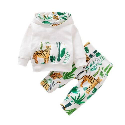 Kinder Baby Mädchen Jungen Outfits Hoodie Pullover Sweatshirt Tops Hose Set 2tlg