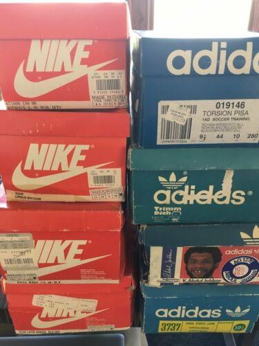 3 Nike Orange & 3 Adidus blue Empty Shoe Boxes (Lo