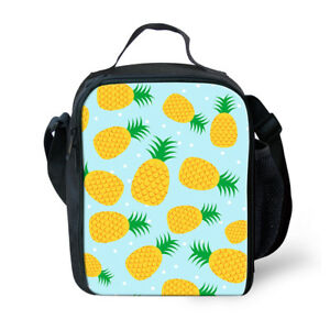 Details About Lunch Box For Kids Girls Pineapple Child Insulated Thermal School Lunch Bags