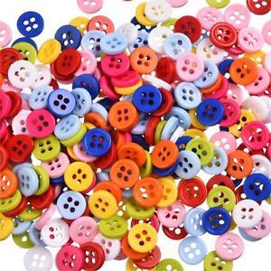 lot-de-50-bouton-scrapbooking-4-trou-unis-multi-couleurs-mercerie-couture-9-mm