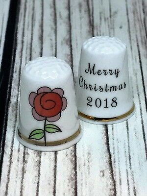 BN Personalised Fine Bone China Friendship Thimble Friends are Family Thimble