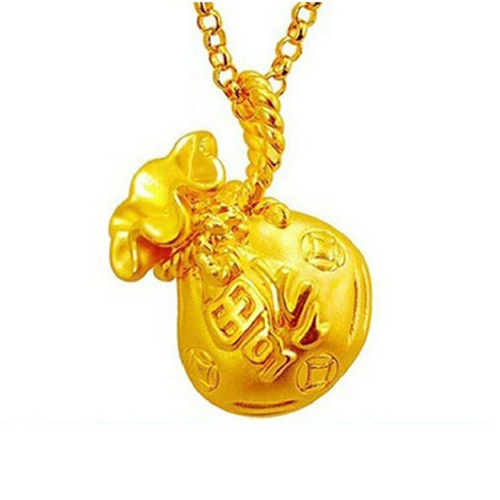 New Arrival Pure 999 24K Yellow gold Women 3D Bag Pendant 0.9-1.1g