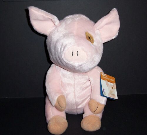 """Kohls Cares 13/"""" If you Give a Pig a Party Pancake Pig Pink Brown Feet Plush NWT"""