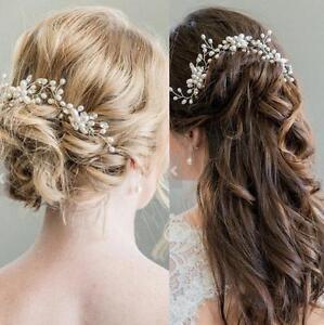 Elegant Bridal Hair Accessory Pearl Flower Hair Pin Stick Wedding