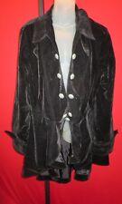 MEN'S Black Velvet Ruffled Pirates Coat XL 1X Goth Steampunk Victorial theater
