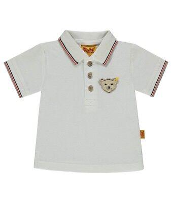 Jungen Poloshirt 1//4 Arm Steiff Baby Einfarbig