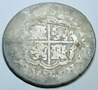 1731 Spanish Silver 1 Reales Antique 1700's Colonial Cross Pirate Treasure Coin