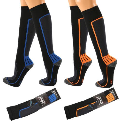 NEW Blue Orange 12 mmHg Kompression Coolmax Sport Stützstrümpfe Kniestrümpfe