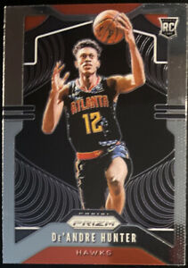 🔥 2019-20 De'Andre Hunter RC Panini Prizm Hawks Base Rookie Clean, CENTERED!
