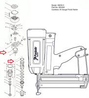 Paslode Finish Nailer Im250 900400 O Ring Kit