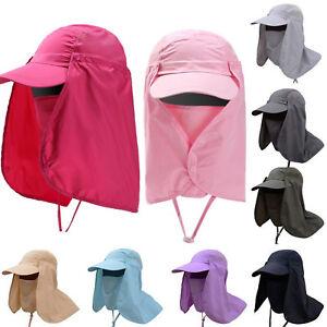 465eac42e392c Men Outdoor UV Protection Ear Flap Neck Cover Sun Hat Cap Fishing ...