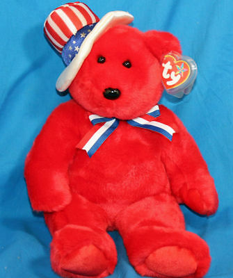 Ty Large Plush Beanie Buddy Sam the Red Bear