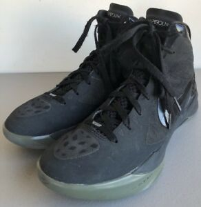 34272ba7a7af Nike Zoom Hyperdunk Flywire Black High Tops 454138-001 Men s Size 9 ...