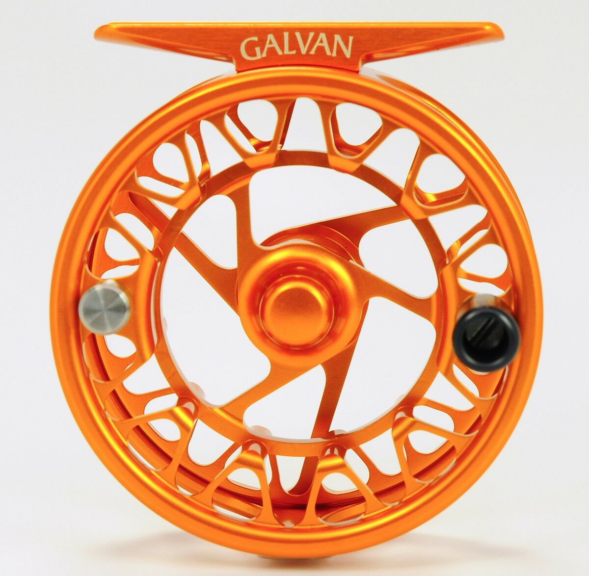 Galvan Brookie B 3 4 Ultra Ligero Grande Arbor Fly Reel Raro Naranja Quemado