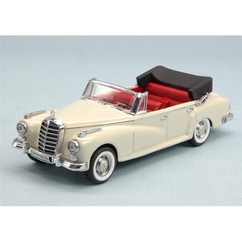 MERCEDES 300 D 1958 CABRIO WHITE 1:43 Rio Auto Stradali Die Cast Modellino