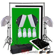 Photo Studio parapluie Softbox éclairage Set Soutien de fond Kit 3 toile de fond