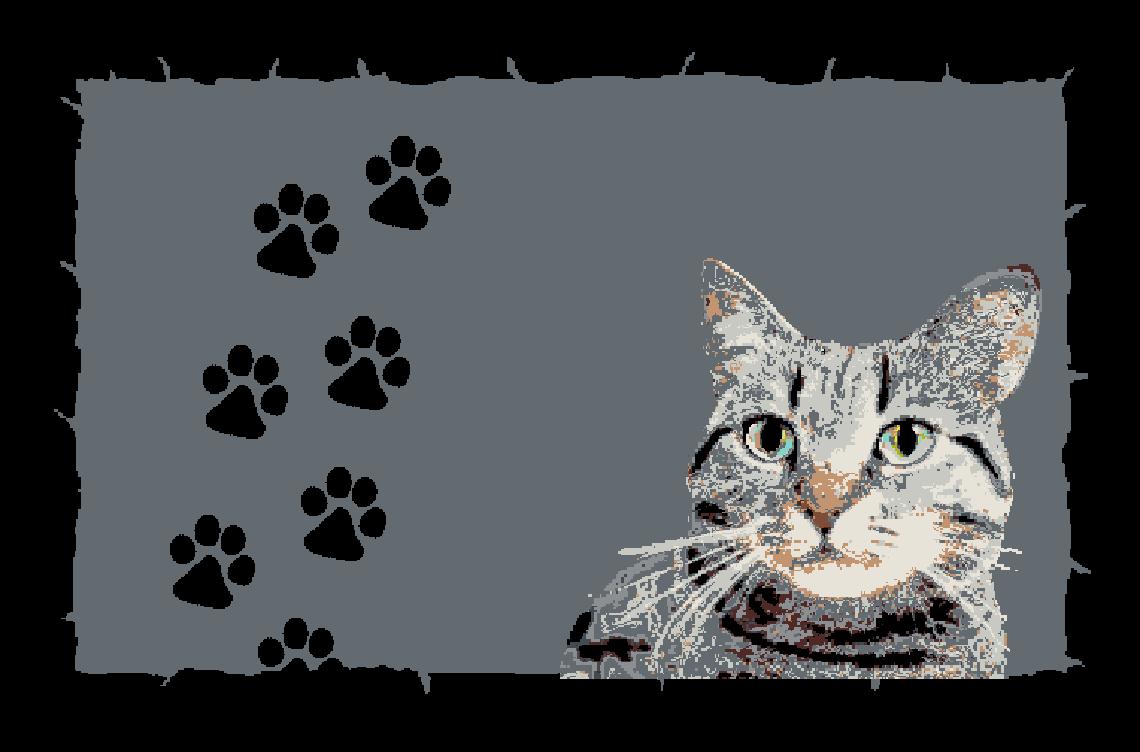 Fußmatte mit Namen Napfunterlage Katzenmatte  75x50 cm  Design 17180541 | Clearance Sale