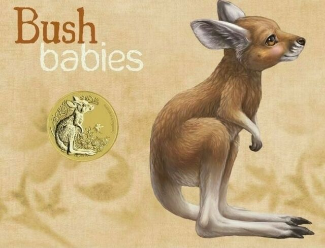 2011 Australia PNC Bush Babies Joey with special Unc $1 Coin