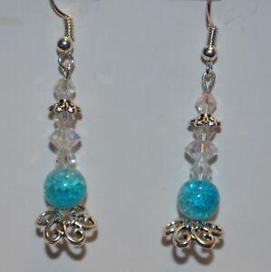 Intricate-drop-long-blue-and-white-glass-dangle-handmade-intricate-earrings